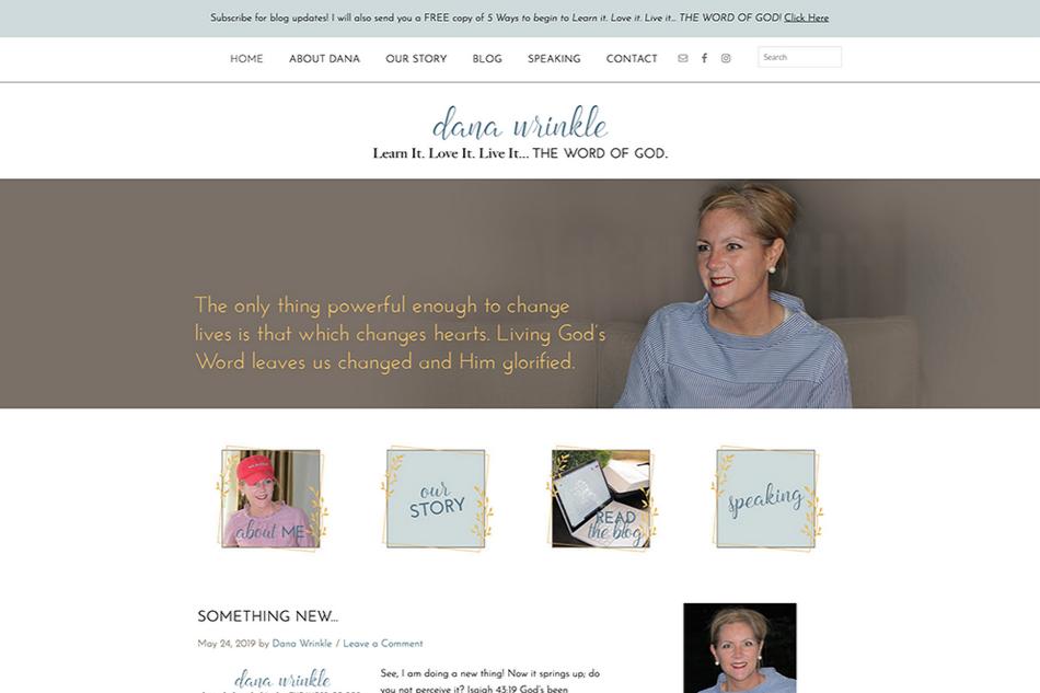 Dana Wrinkle: Custom WordPress Design