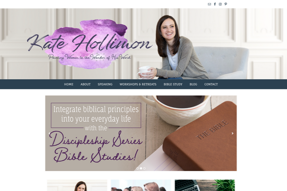 Kate Hollimon: Custom WordPress Design