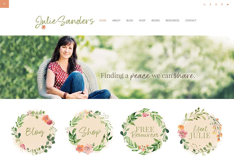 Julie Sanders: Custom WordPress Design