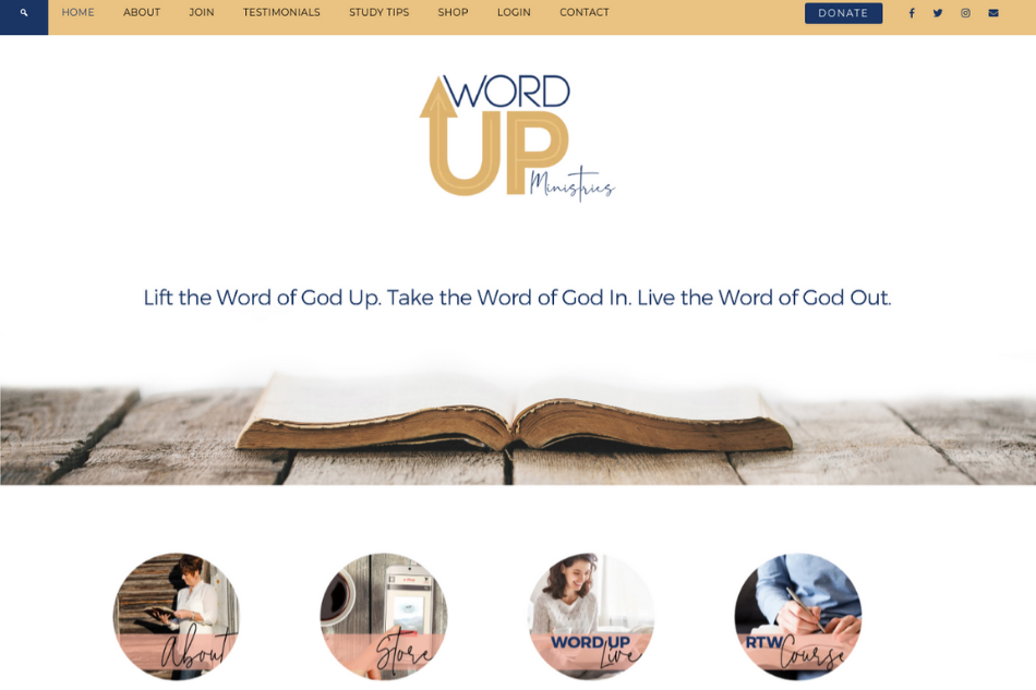 Wendy Pope - Word Up Ministries: Premium Website Design