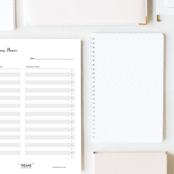 MRM Plan Your Day: Daily Business Planner