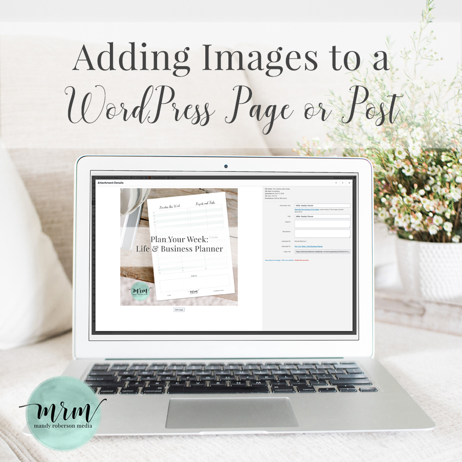 MRM: Adding Images to a WordPress Page or Post