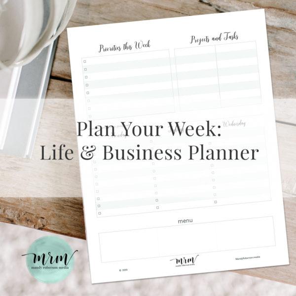 MRM: Weekly Planner