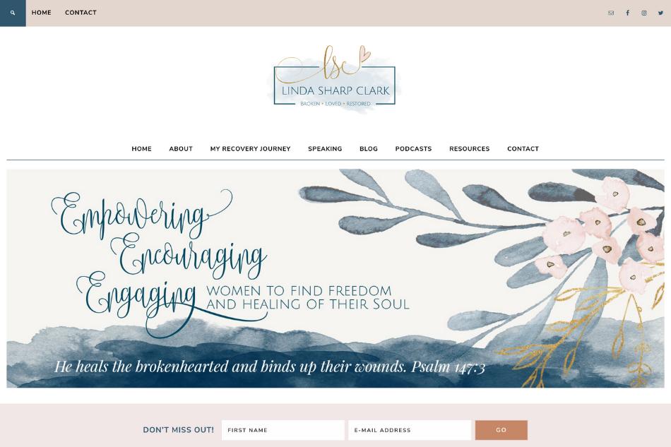 Linda Sharp Clark: Premium Website Design