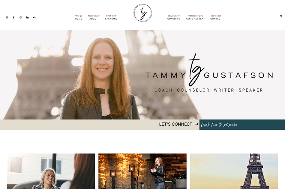 Tammy Gustafson: Premium Website Design