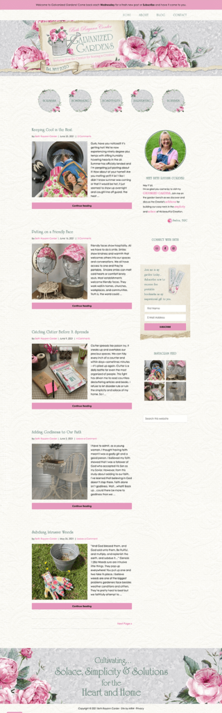 MRM Project Feature: Beth Corder Website Design