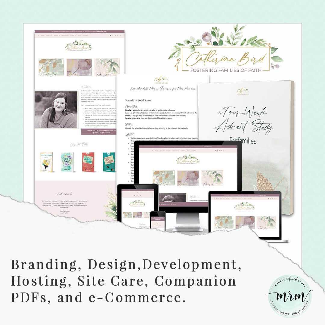 MRM Project Feature: Catherine Bird Brand and Website Design