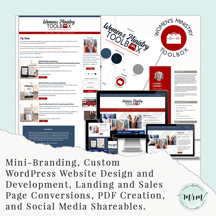 MRM Project Feature Women's Ministry Toolbox Brand and Website Design