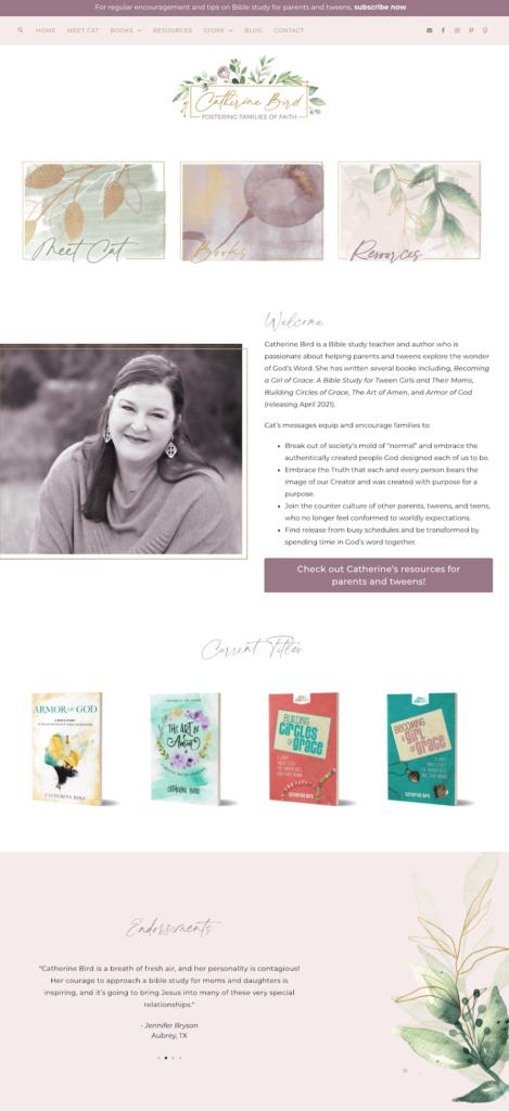 MRM Project Feature: Catherine Bird Brand & Web Design