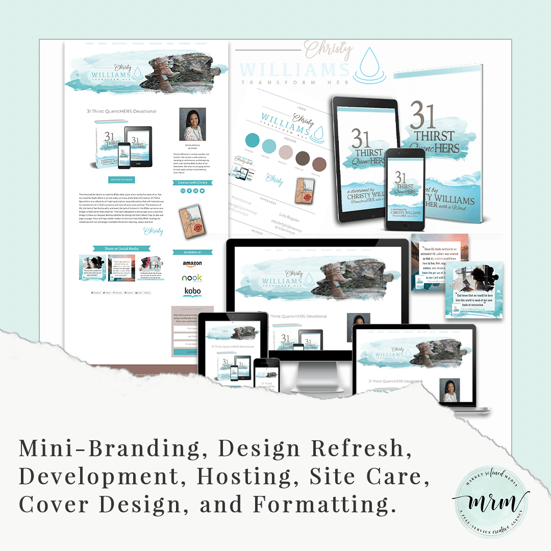 MRM Project Feature: Christy Williams Mini-Brand, Site Design, and Self-Publishing