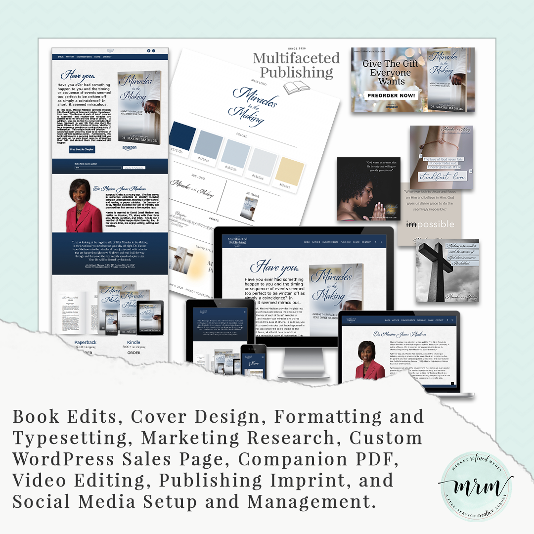 MRM Project Feature: Miracles in the Making Publishing and Website Design