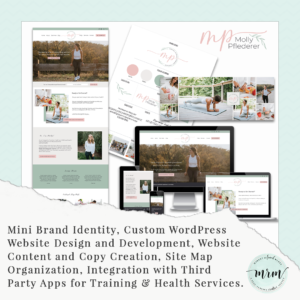 MRM Project Feature: Molly Pflederer Brand and Website Design